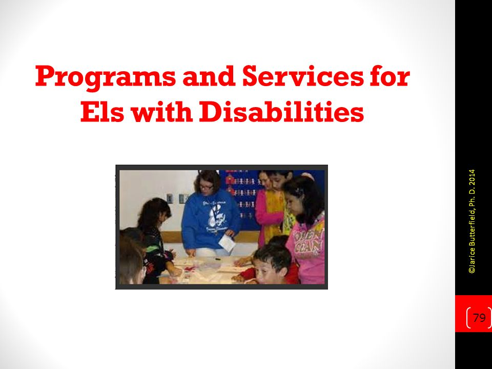 Programs and Services for Els with Disabilities