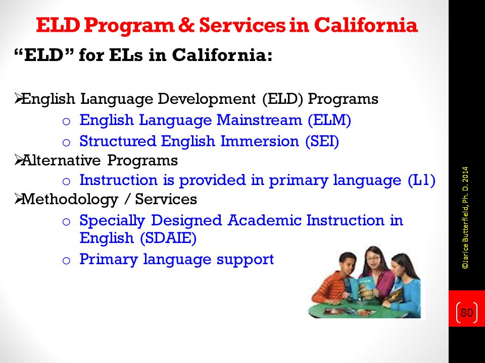 ELD Program & Services in California