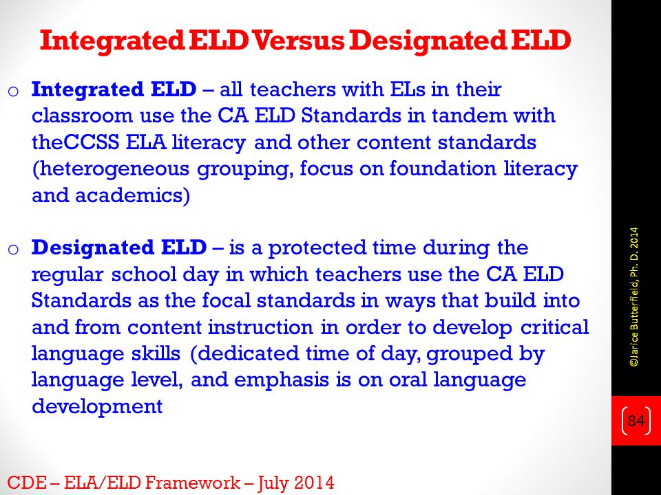 Integrated ELD Versus Designated ELD