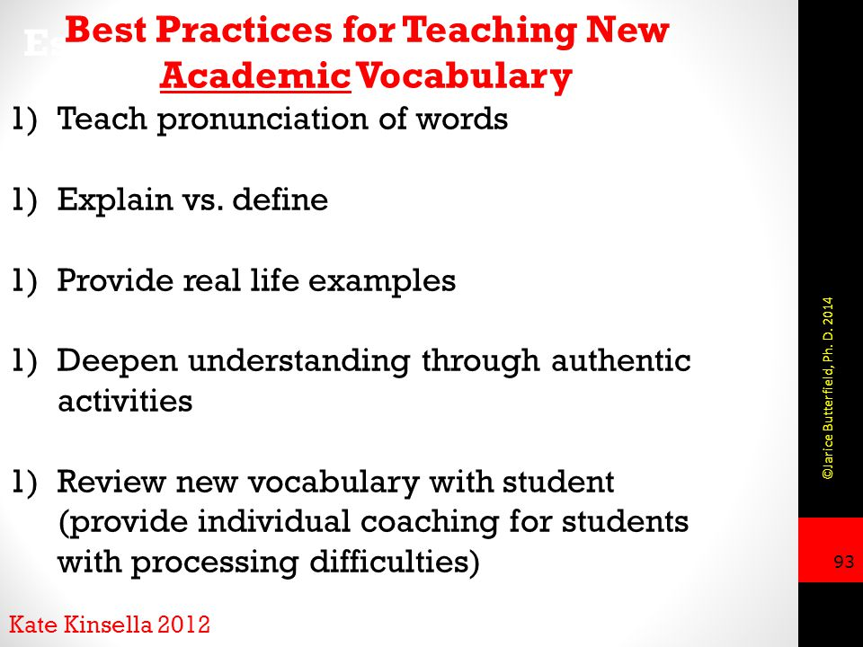 Best Practices for Teaching New