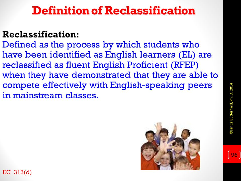 Definition of Reclassification