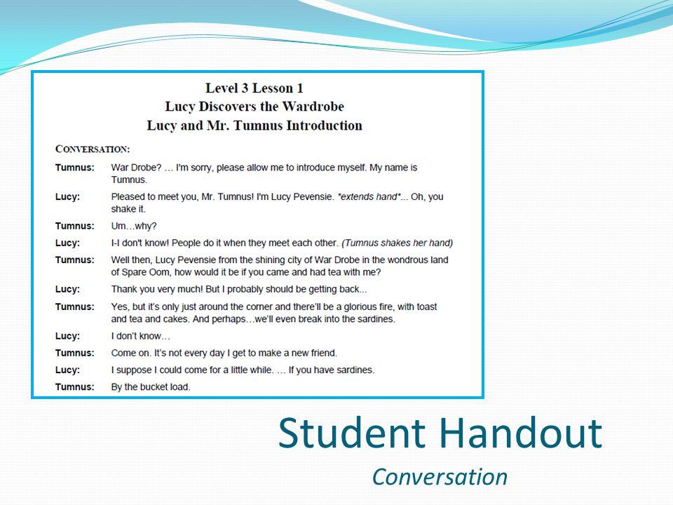 Student Handout Conversation