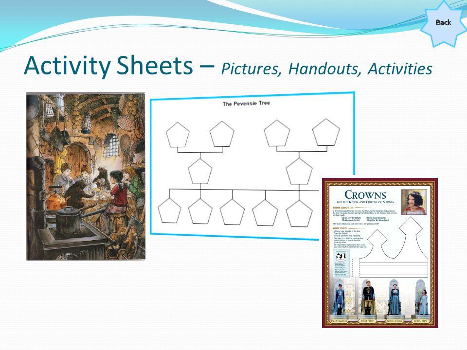 Activity Sheets – Pictures, Handouts, Activities