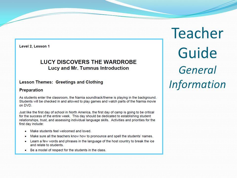 Teacher Guide General Information