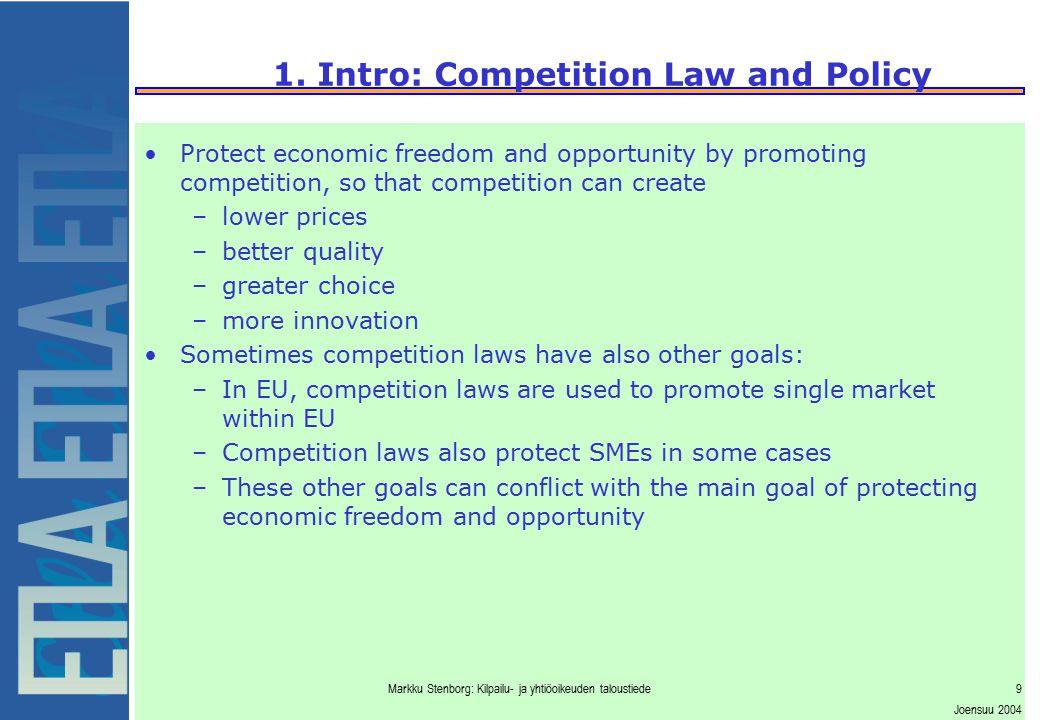 Markku Stenborg: Kilpailu- ja yhtiöoikeuden taloustiede