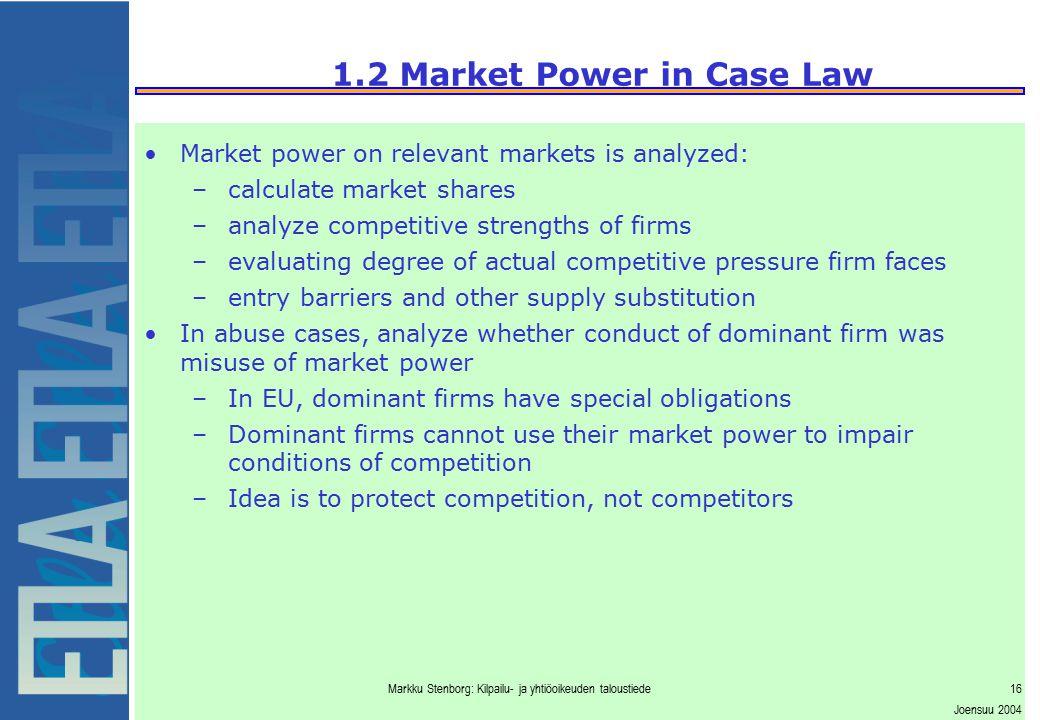 2. Economics of Market Definition