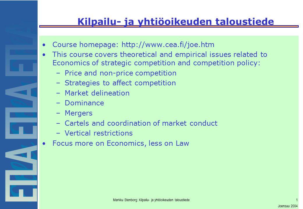Kilpailu- ja yhtiöoikeuden taloustiede