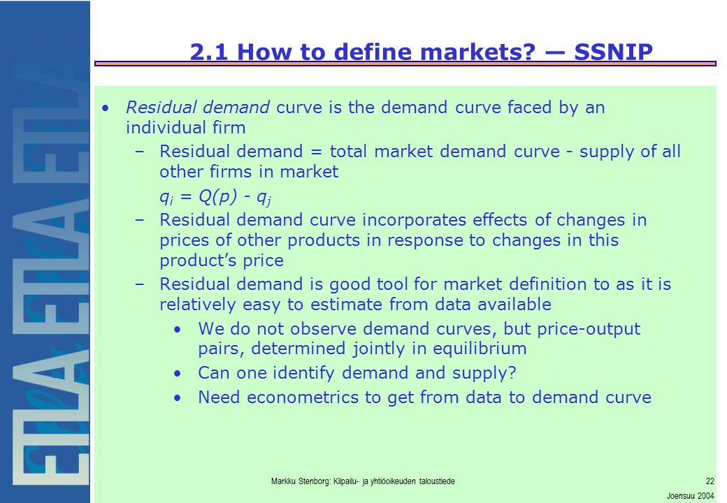 2.2 Critical Elasticity of Demand and Loss