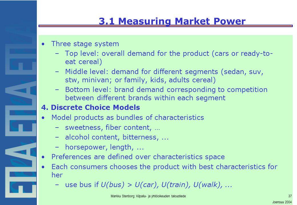 3.1 Measuring Market Power