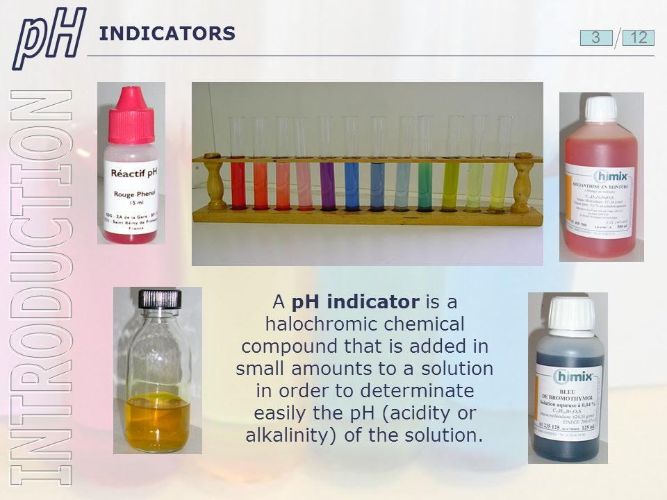pH INTRODUCTION INDICATORS