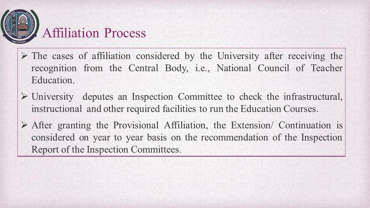 Affiliation Process