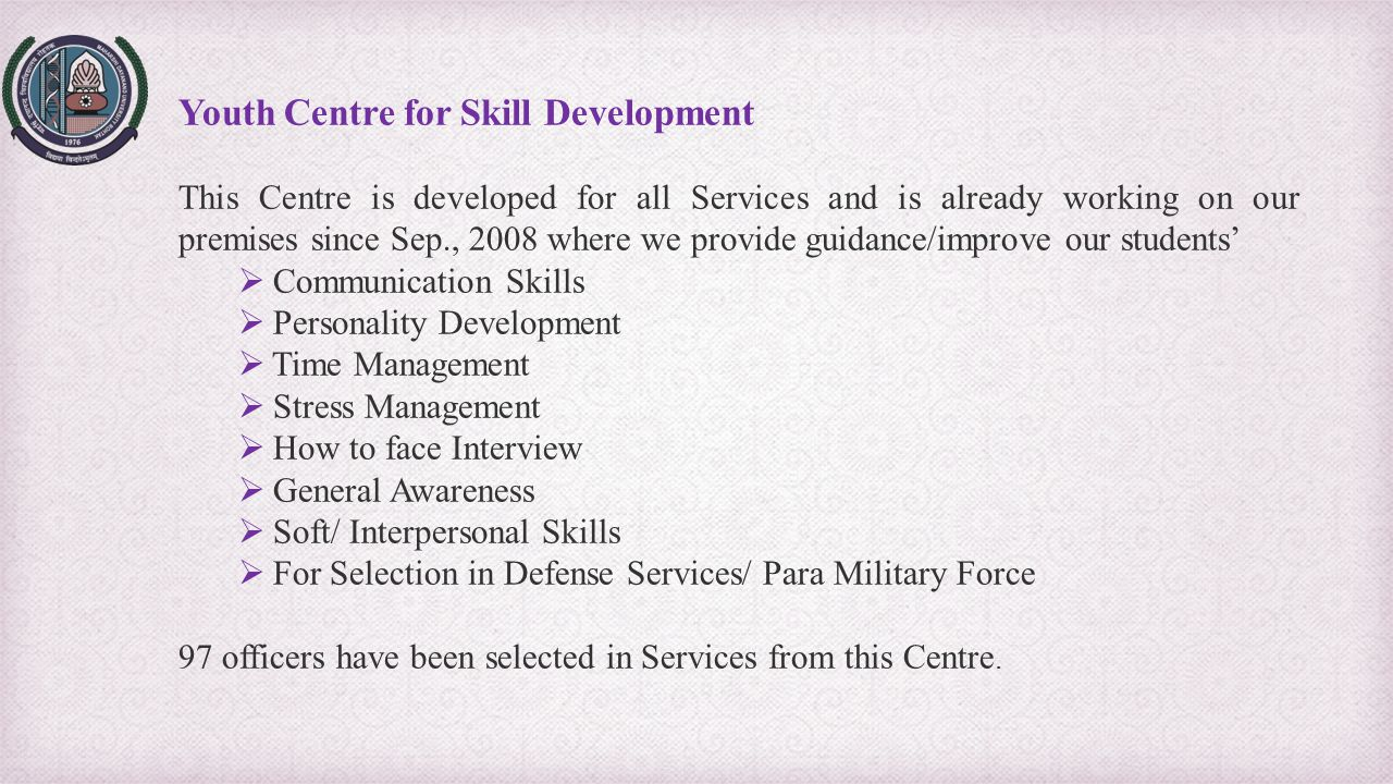 Youth Centre for Skill Development
