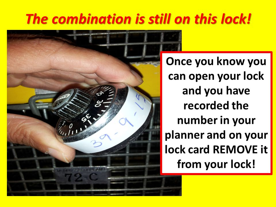 The combination is still on this lock!