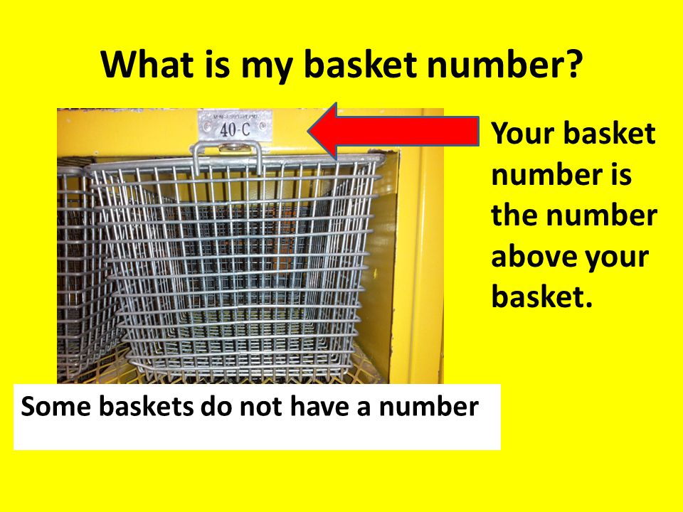 What is my basket number