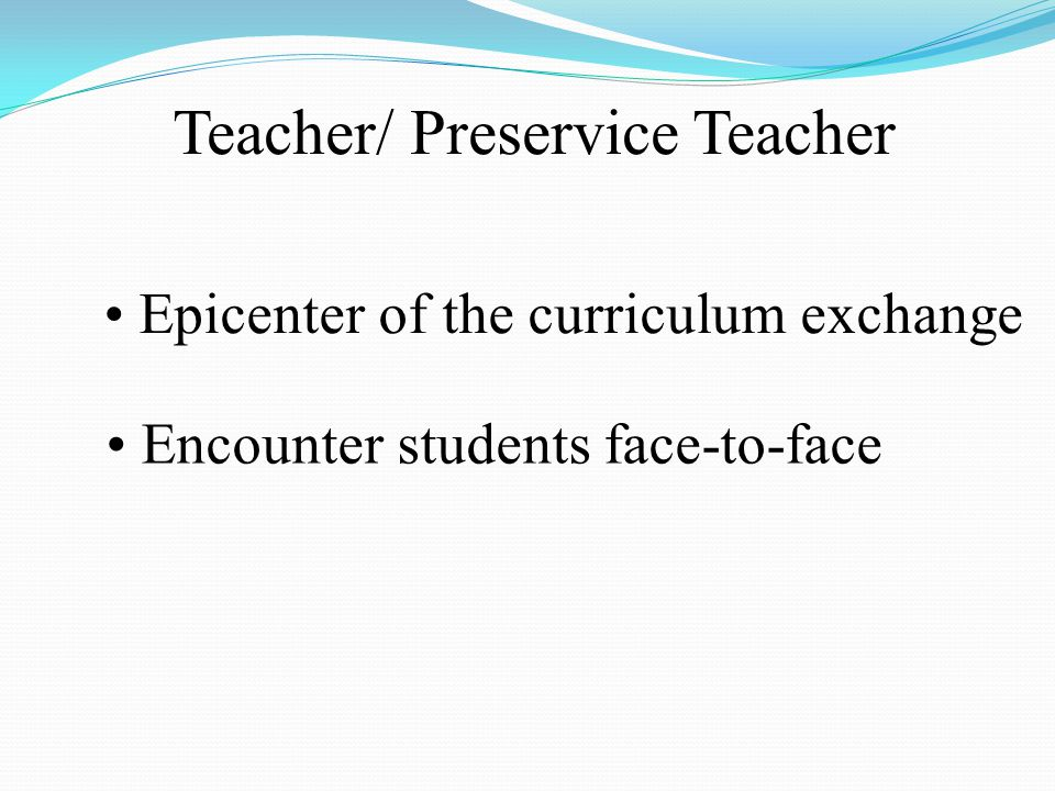 Teacher/ Preservice Teacher