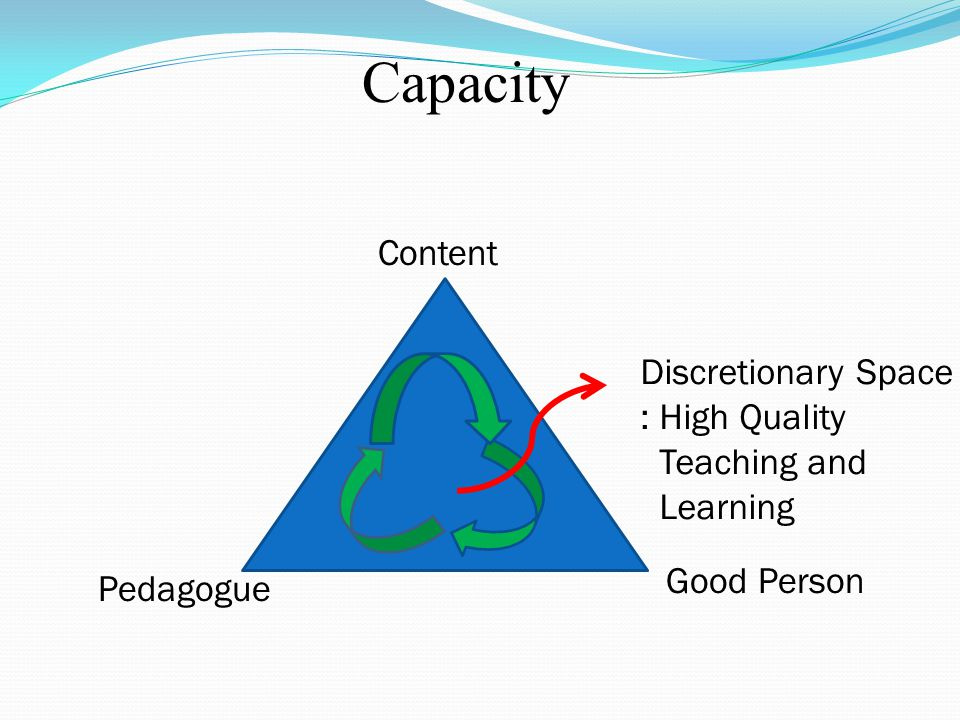 Capacity Content Discretionary Space : High Quality Teaching and