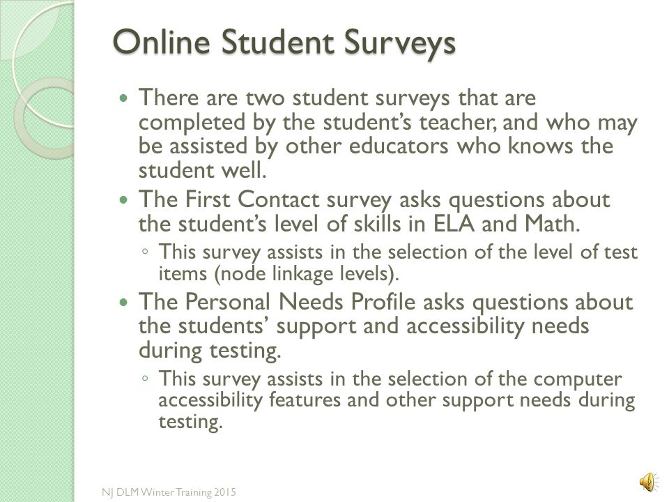 Online Student Surveys