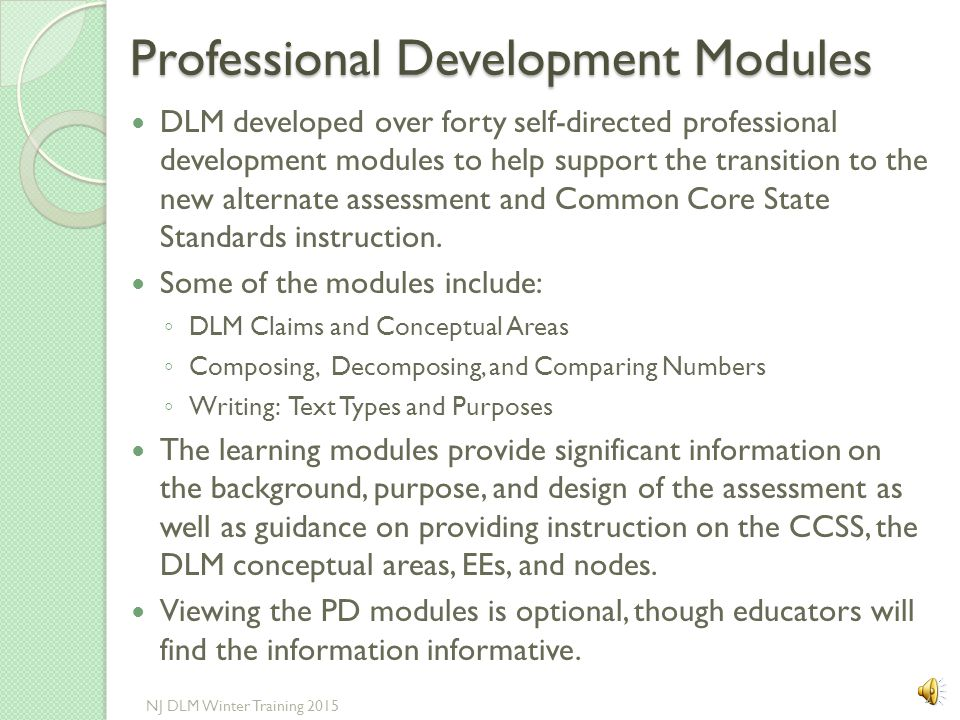 Professional Development Modules