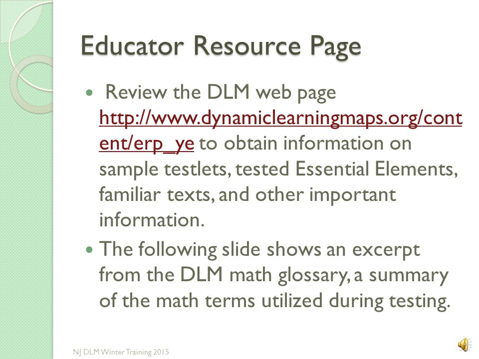 Educator Resource Page