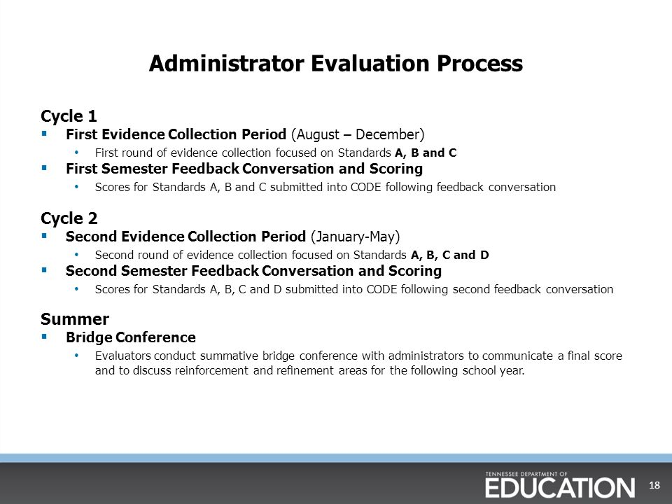 Administrator Evaluation Process