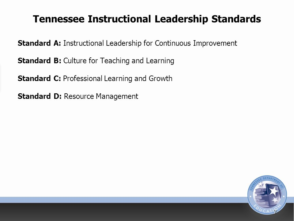 Tennessee Instructional Leadership Standards
