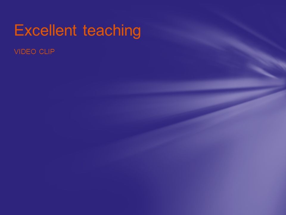 Excellent teaching VIDEO CLIP