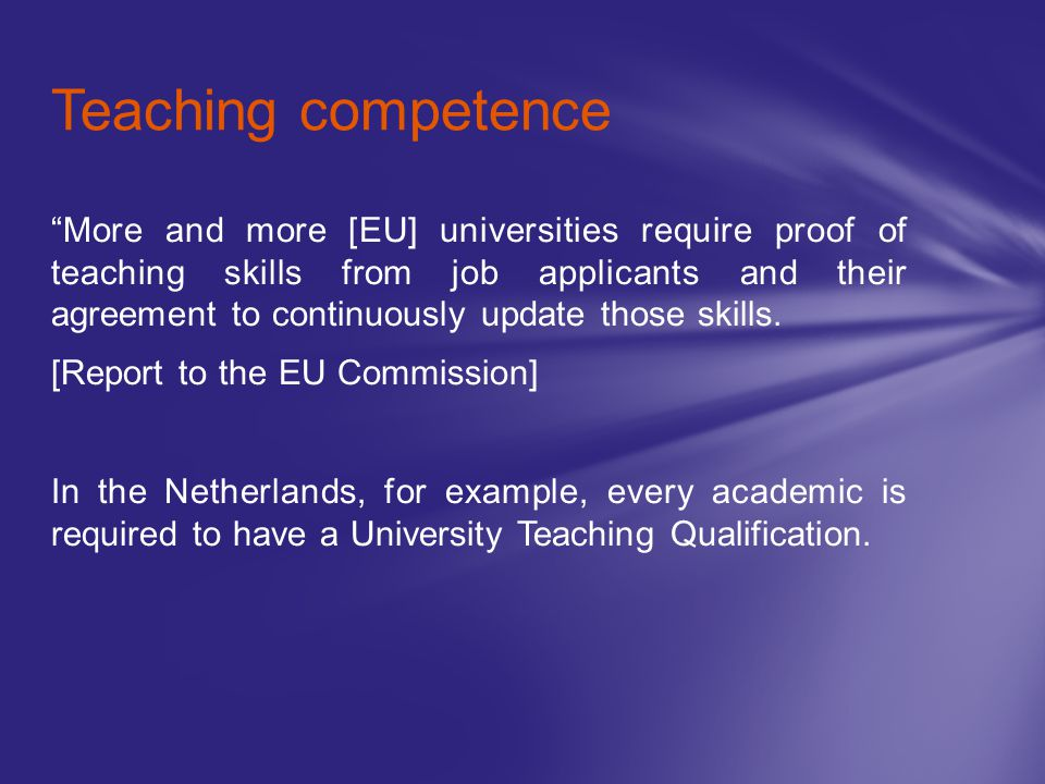 Teaching competence
