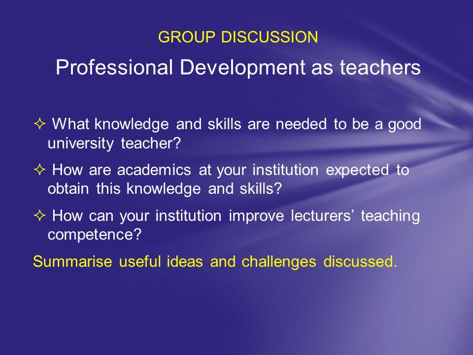 Professional Development as teachers