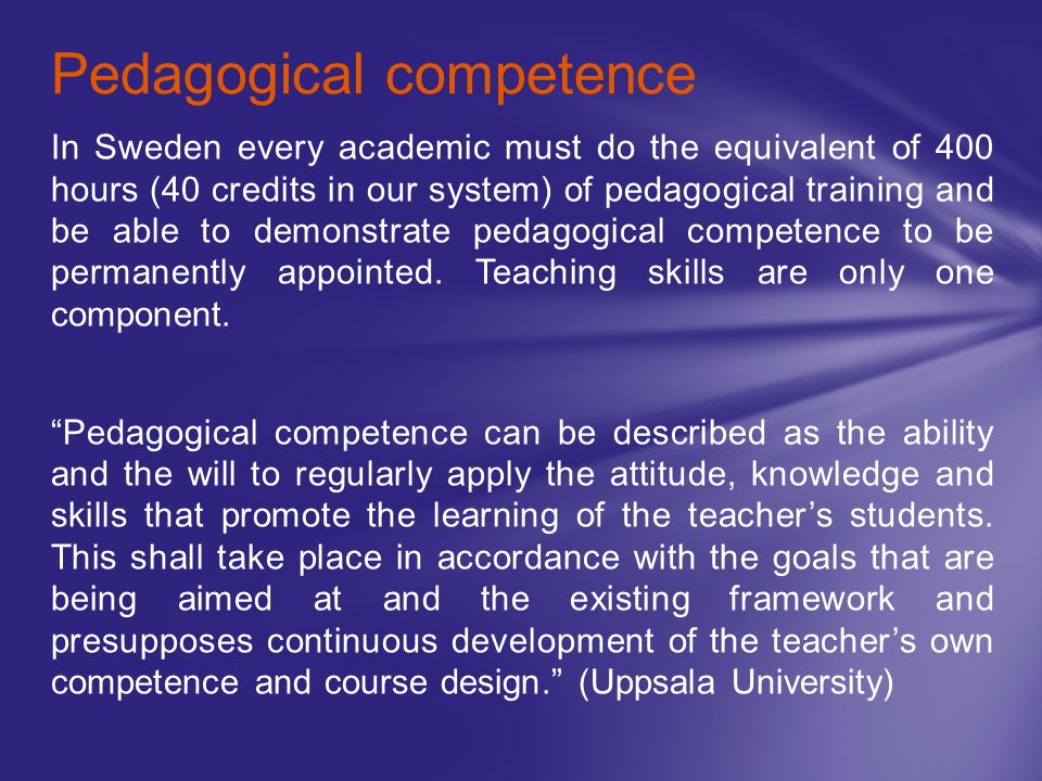 Pedagogical competence