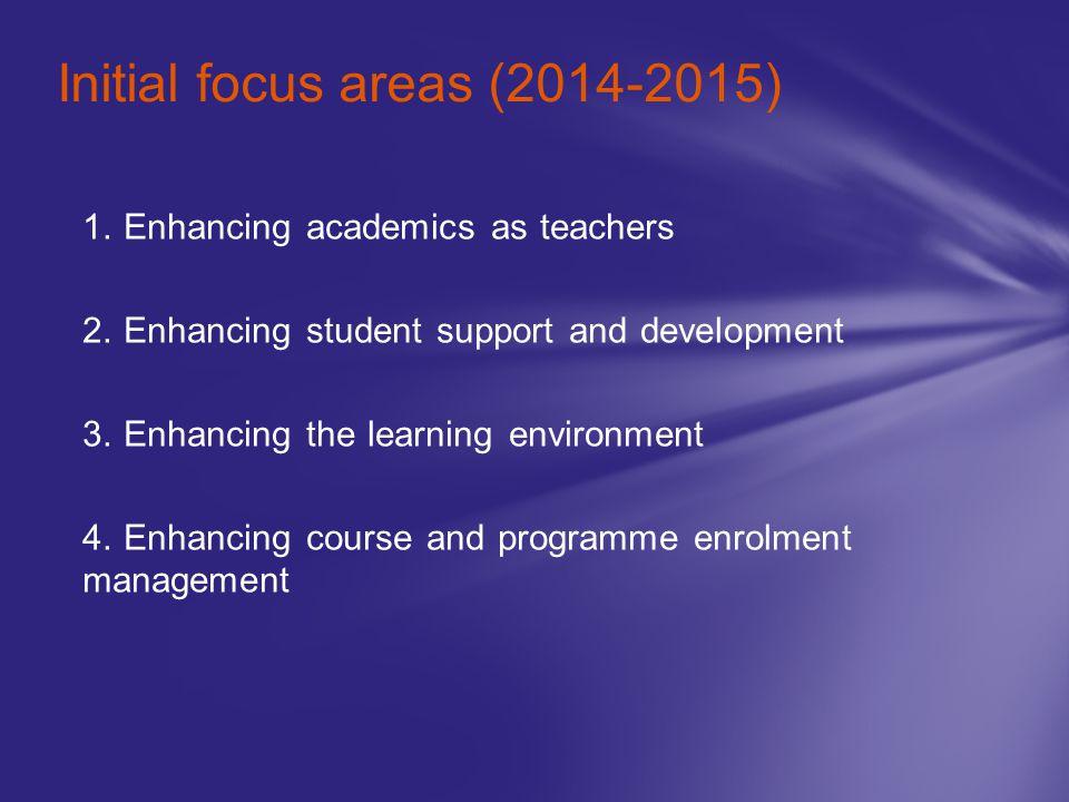 Initial focus areas (2014-2015)