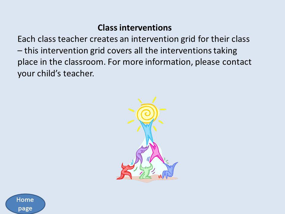 Class interventions