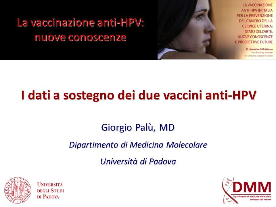 I dati a sostegno dei due vaccini anti-HPV