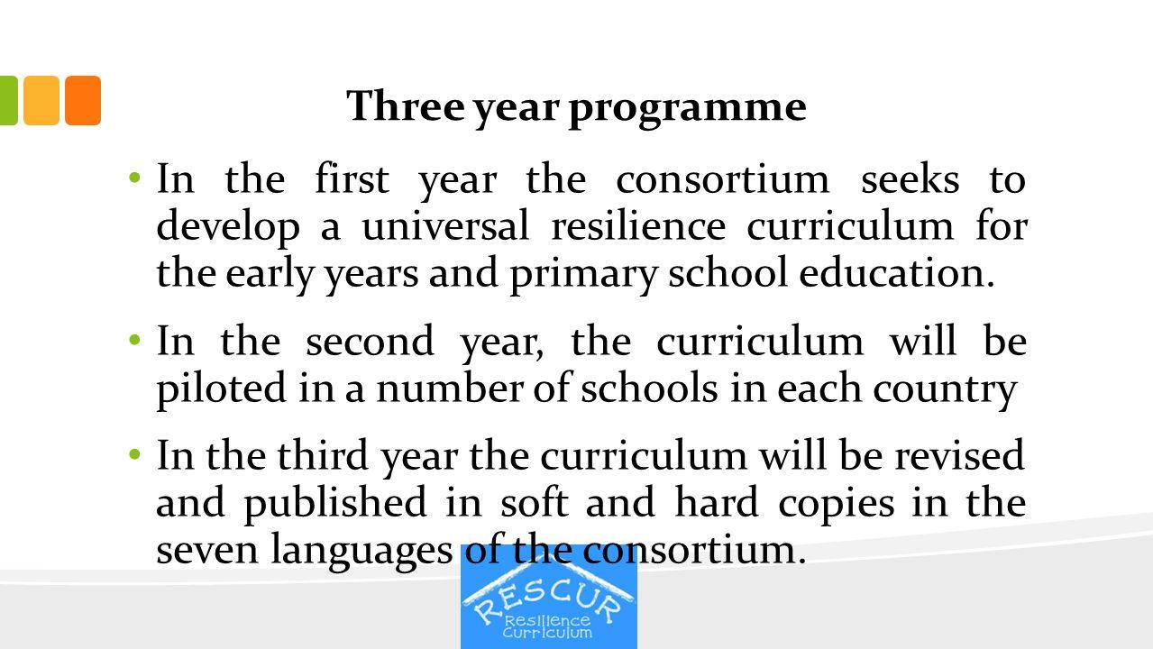 Three year programme