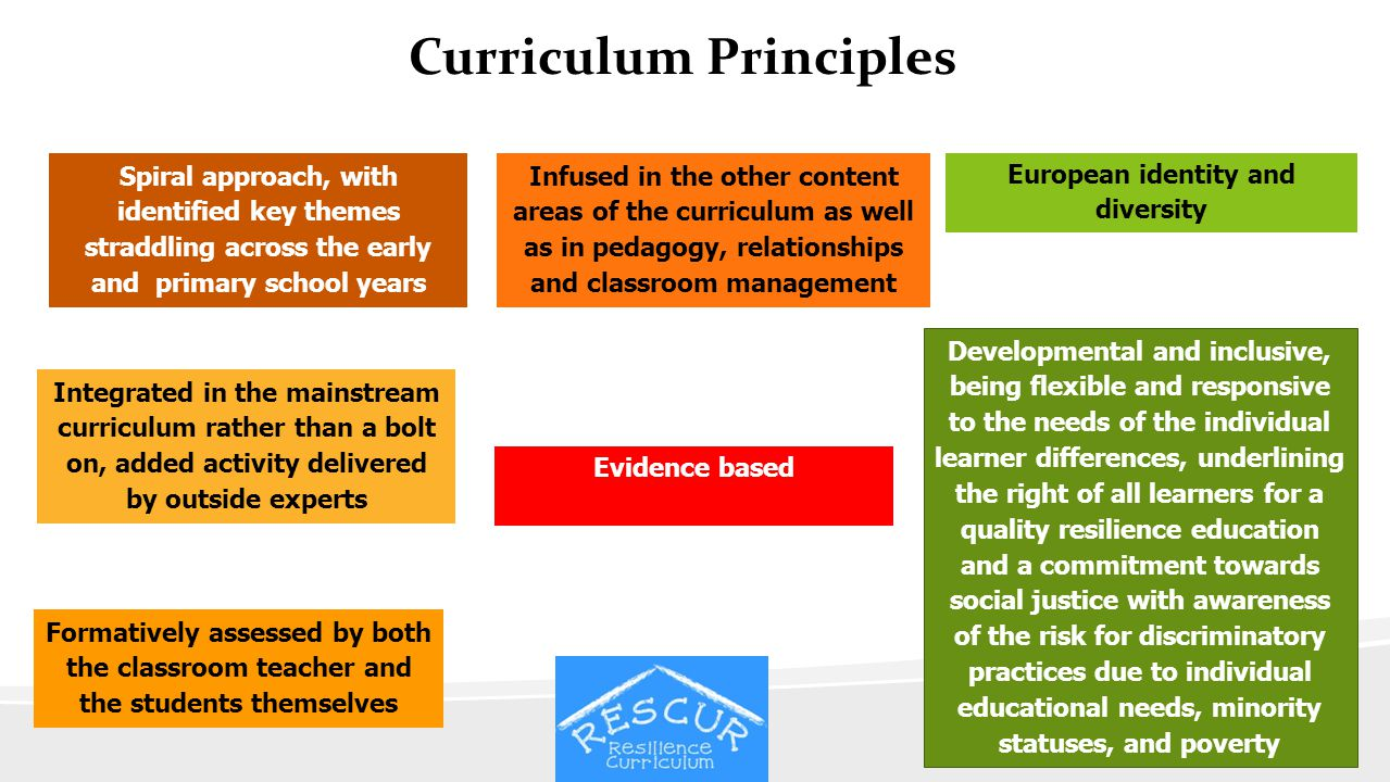 Curriculum Principles European identity and diversity