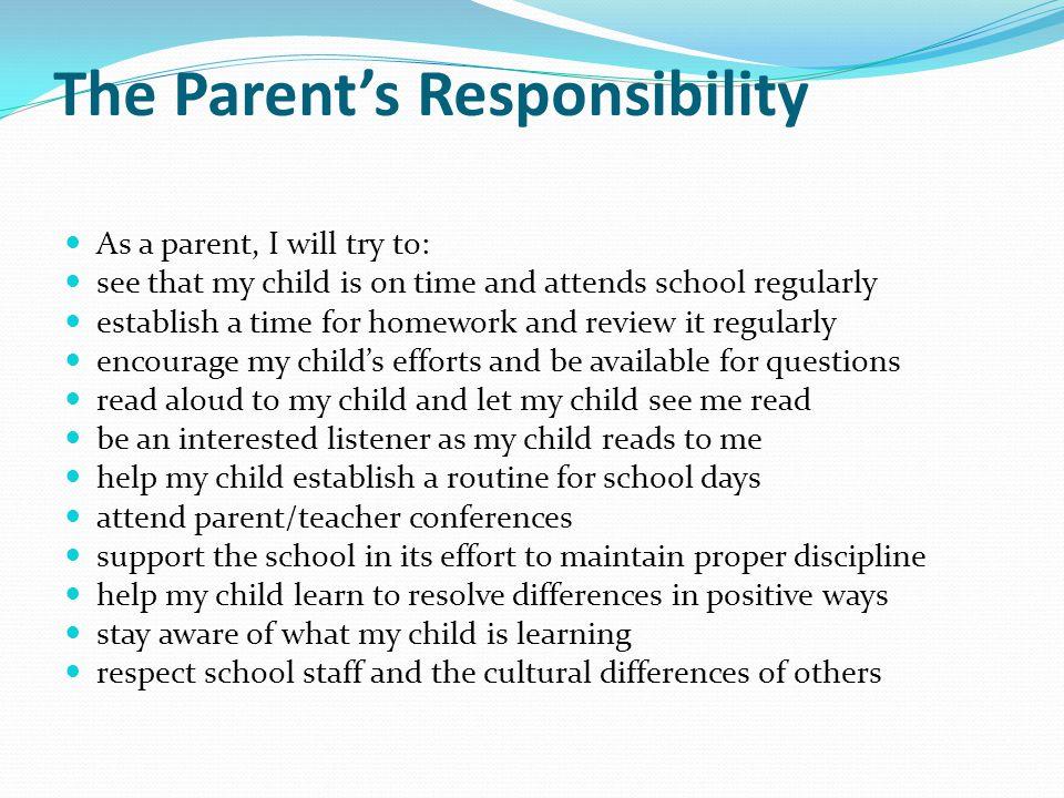 The Parent's Responsibility