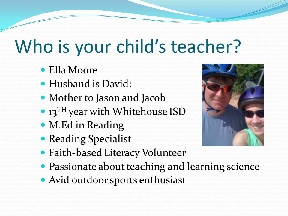 Who is your child's teacher