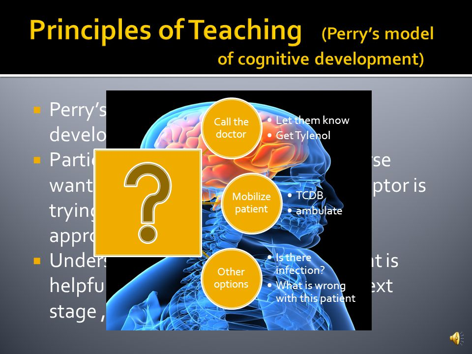Principles of Teaching (Perry's model of cognitive development)