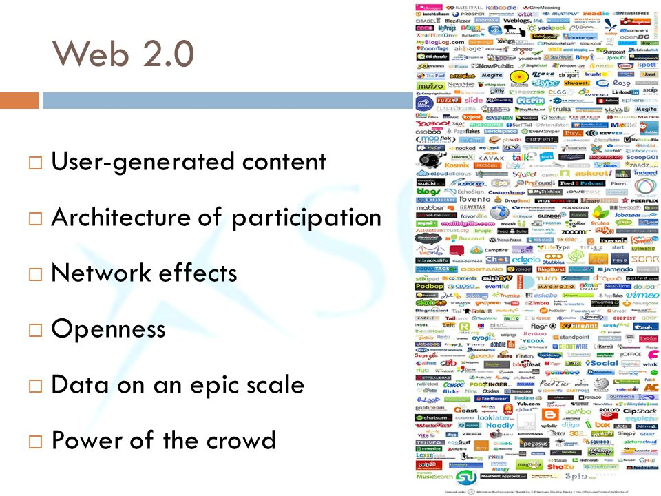 Web 2.0 User-generated content Architecture of participation
