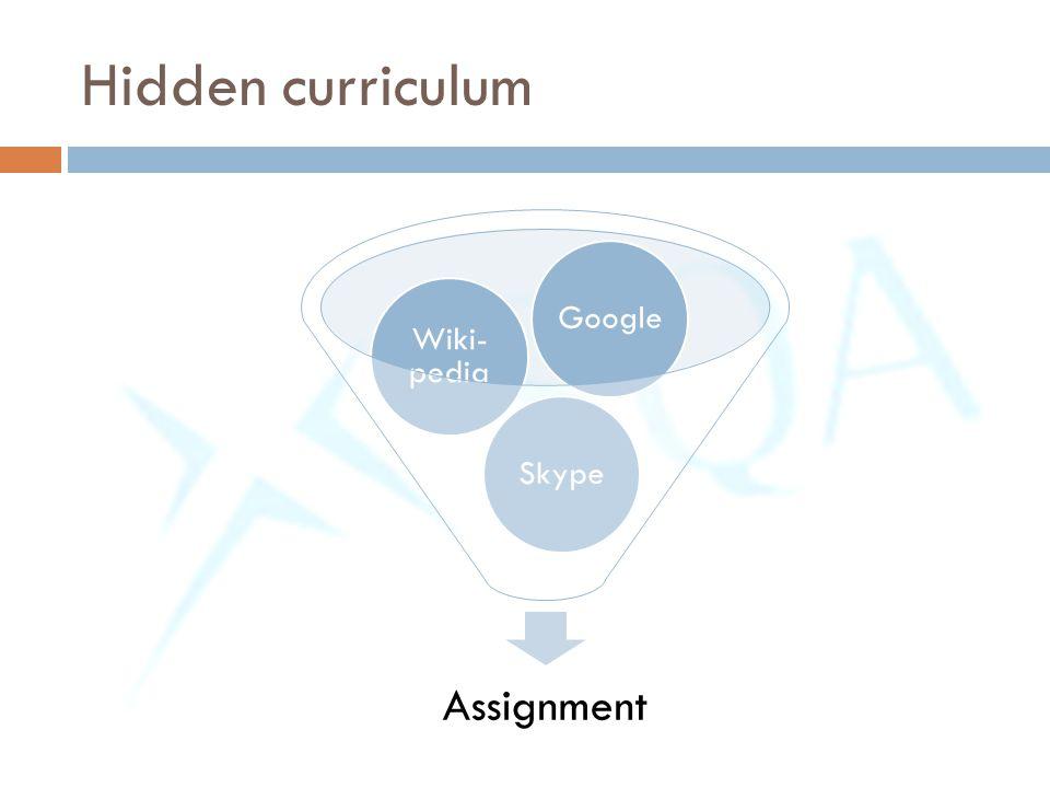 Hidden curriculum Assignment