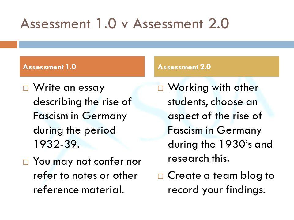 Assessment 1.0 v Assessment 2.0