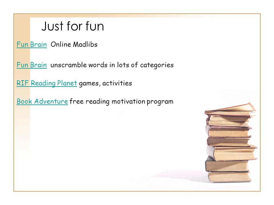 Just for fun Fun Brain Online Madlibs