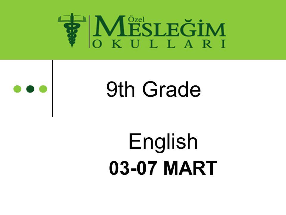 9th Grade English 03-07 MART