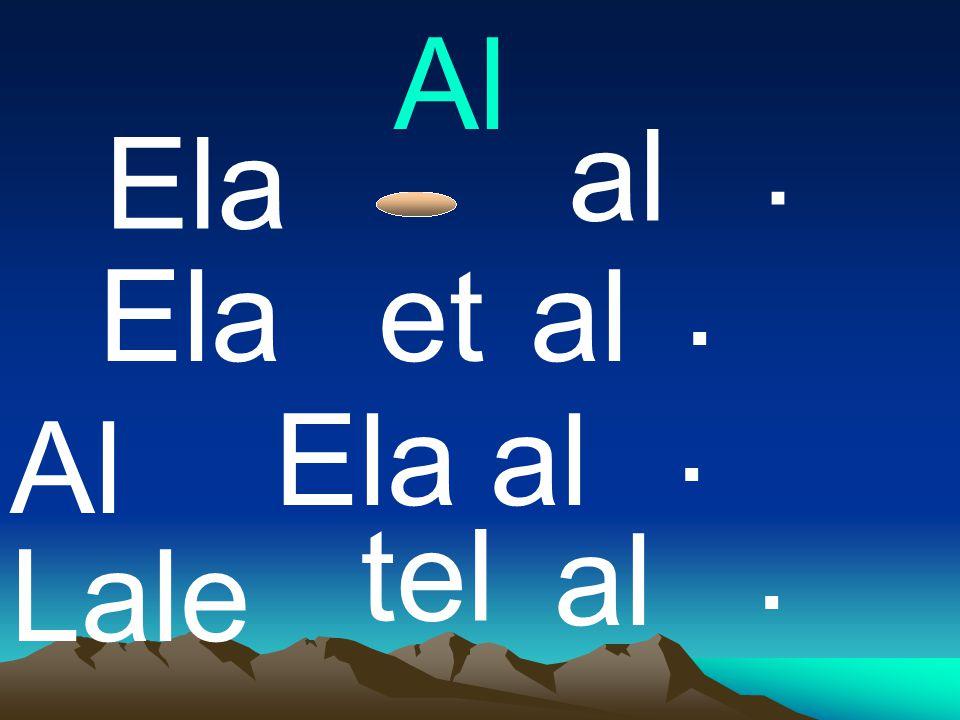 Al . al Ela . Ela et al . Ela al Al . tel al Lale