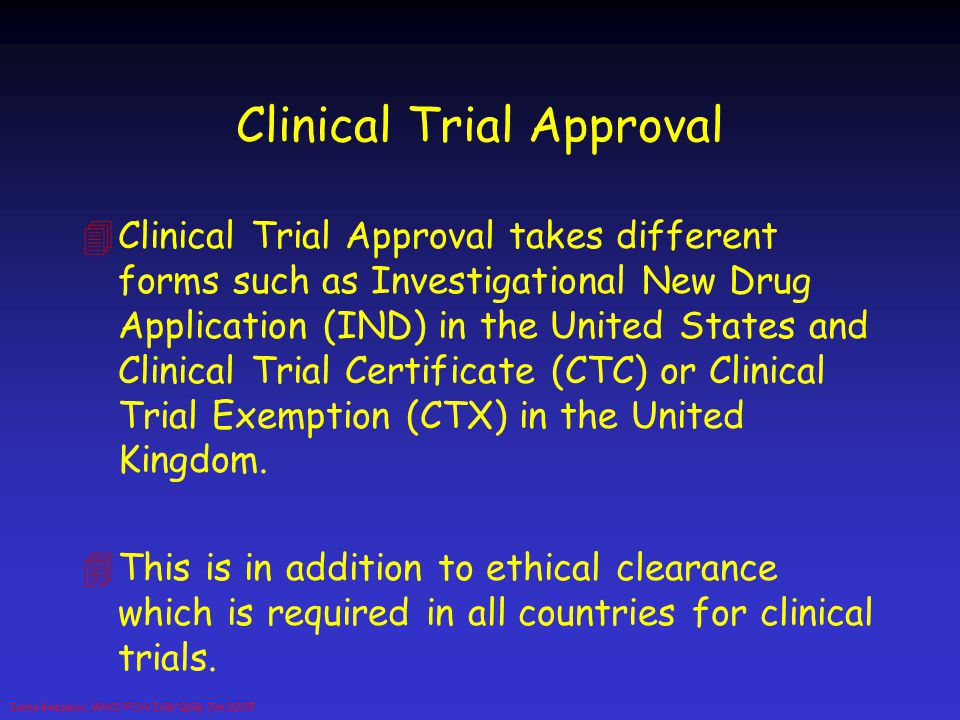 Clinical Trial Approval