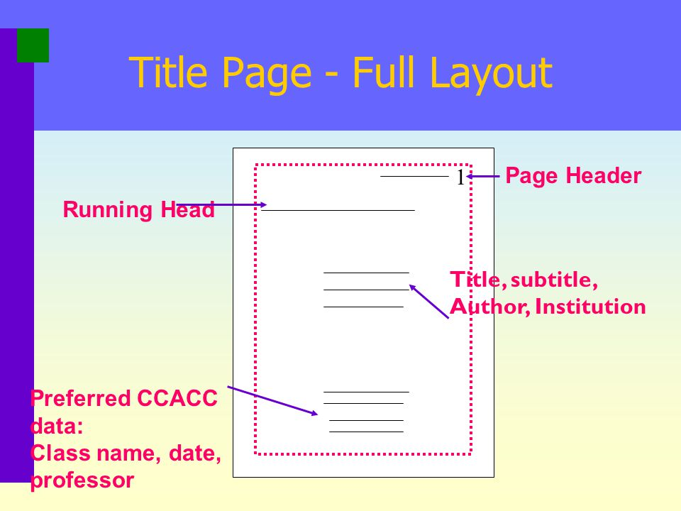 Title Page - Full Layout
