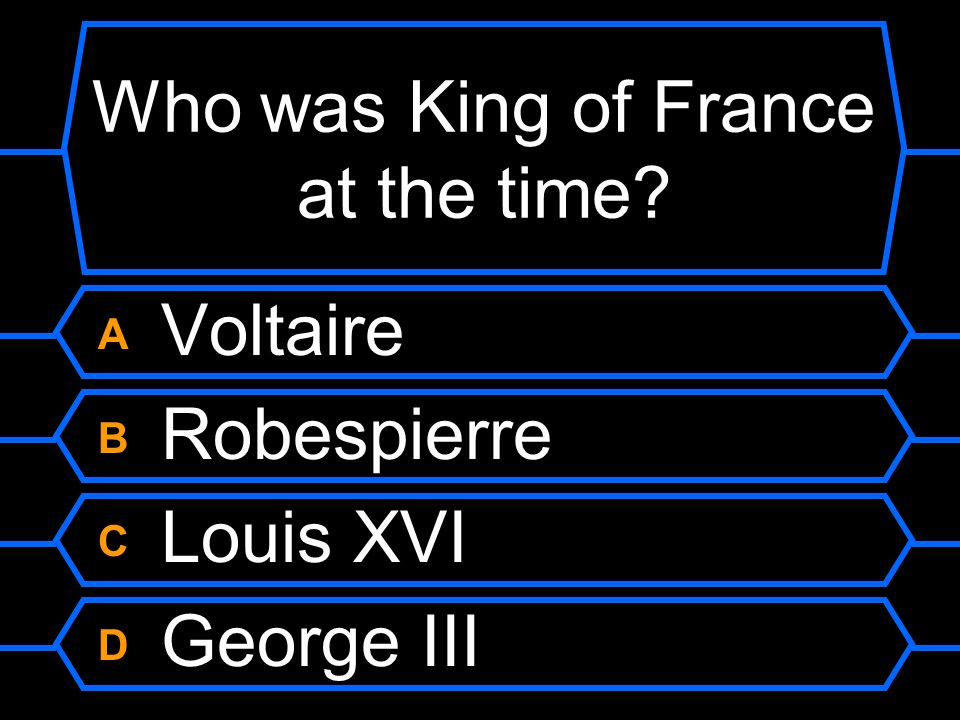 Who was King of France at the time