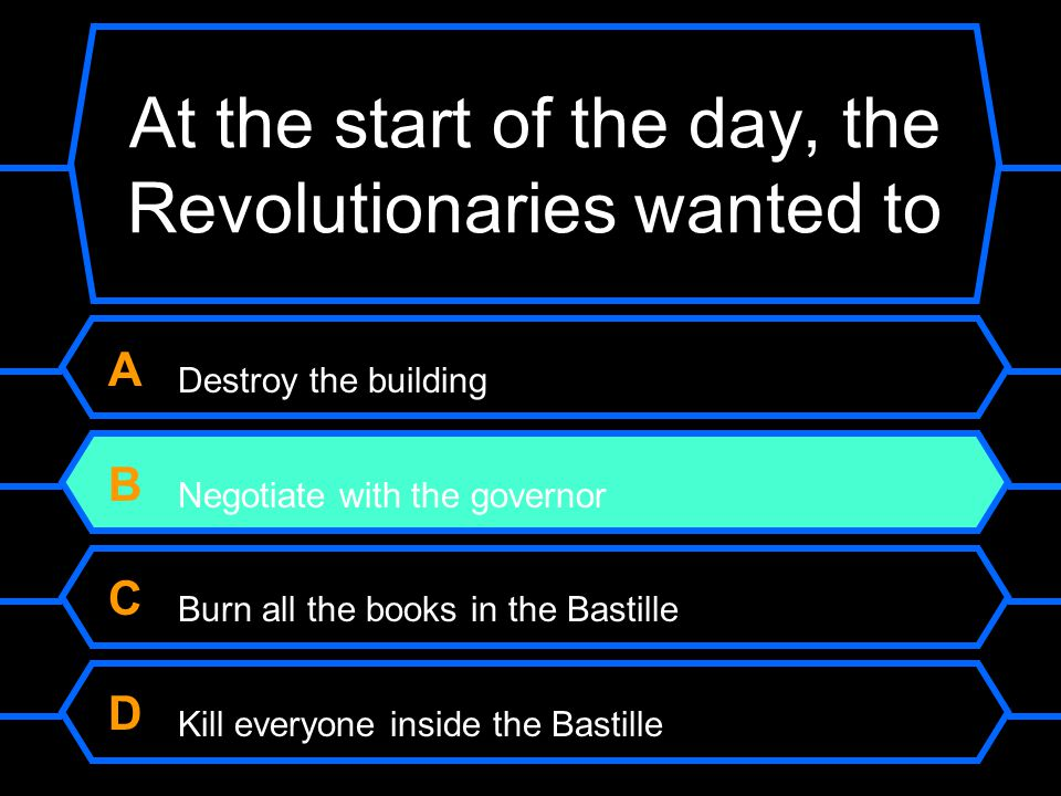 At the start of the day, the Revolutionaries wanted to