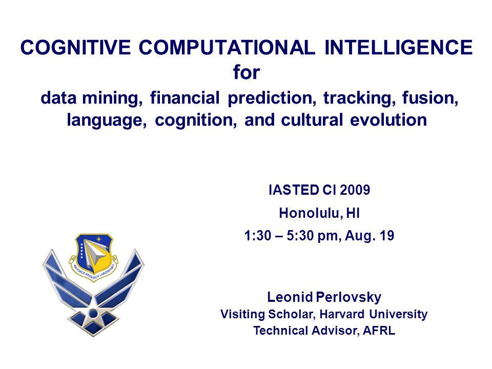 Visiting Scholar, Harvard University Technical Advisor, AFRL