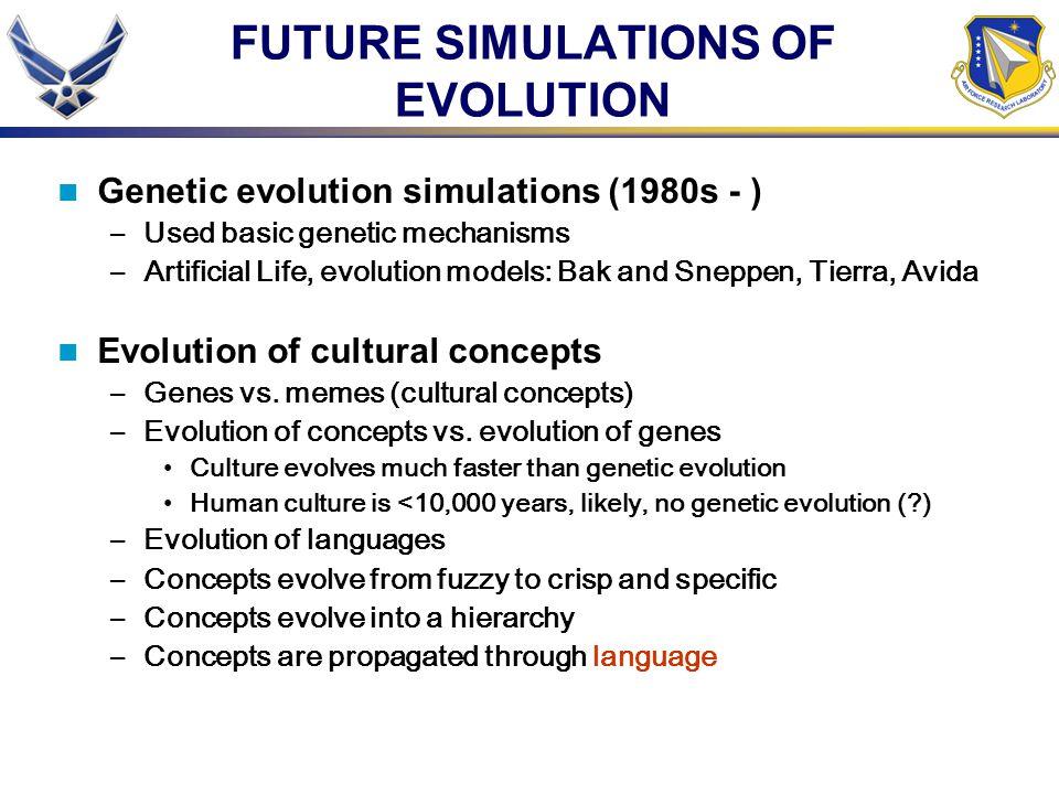 FUTURE SIMULATIONS OF EVOLUTION