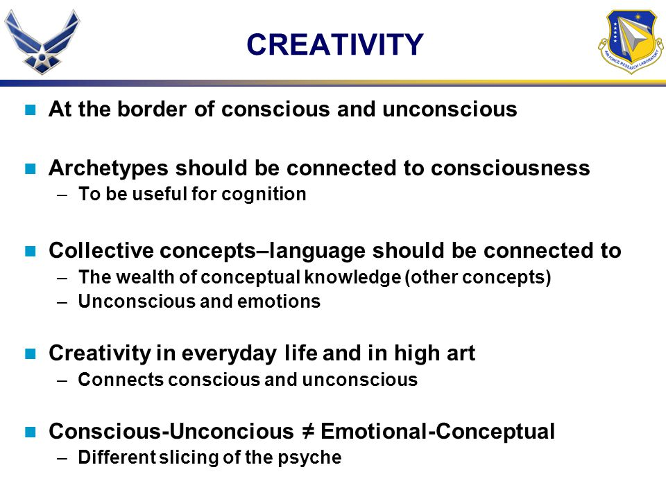 CREATIVITY At the border of conscious and unconscious